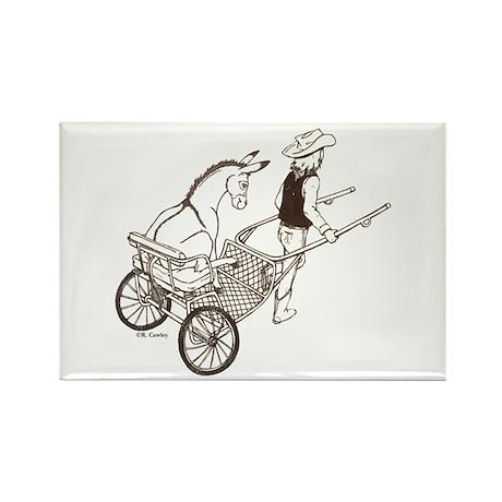 Donkey Cart Rectangle Magnet (100 pack)