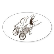 Donkey Cart Oval Decal