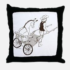 Donkey Cart Throw Pillow