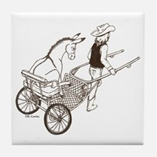 Donkey Cart Tile Coaster