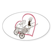 Heartline Mini In Cart Oval Decal