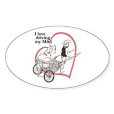 Love Driving Mini Heartline Oval Decal