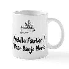 Paddle fasterI here banjo music Small Mug