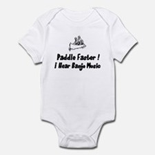 Paddle fasterI here banjo music Infant Bodysuit