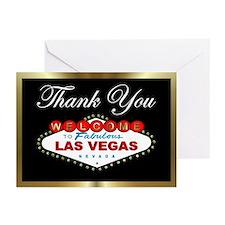 Las Vegas Thank You Black/Gold Cards (Pk of 20)