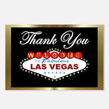 Las Vegas Thank You (B/G) Postcards (Pkg of 8)