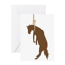 Hung like a horse Greeting Card