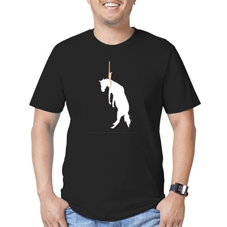 Hung like a horse Men's Fitted T-Shirt (dark)