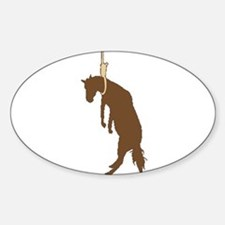 Hung like a horse Oval Decal