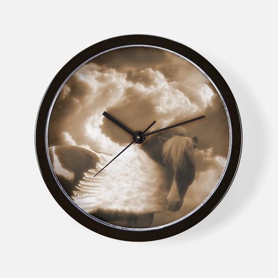 Sepia Pinto Pegasus Wall Clock