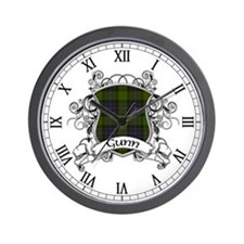Gunn Tartan Shield Wall Clock
