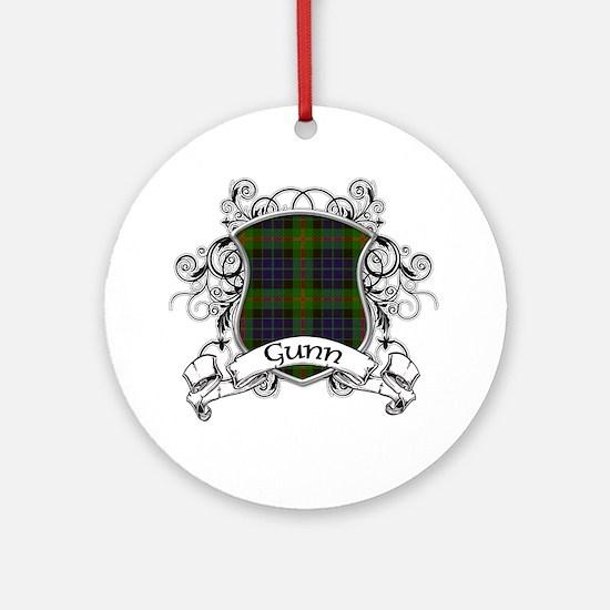 Gunn Tartan Shield Ornament (Round)