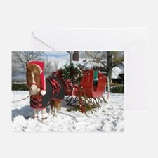 Santa Mini Sleigh Greeting Cards (Pk of 10)