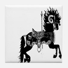 carousel horse from Hell Tile Coaster