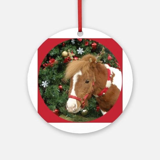 Mini Reinhorse Ornament (Round)