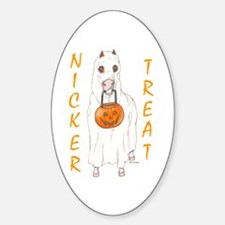 Nicker Treat Orange Oval Decal