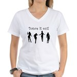 Dance It Out! Women's V-Neck T-Shirt