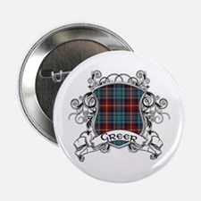"Greer Tartan Shield 2.25"" Button"