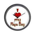 I heart my Hapa Boy Wall Clock