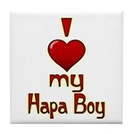 I heart my Hapa Boy Tile Coaster