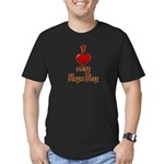 I heart my Hapa Boy Men's Fitted T-Shirt (dark)
