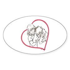 Heartline Mini Love Oval Decal