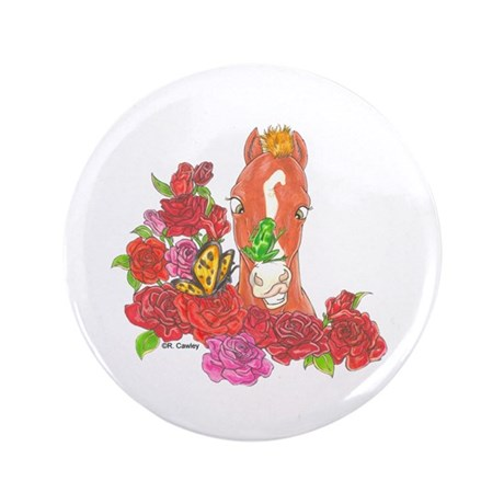 """CMHF Roses w/ Frog 3.5"""" Button (100 pack)"""