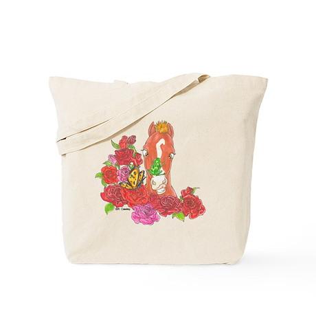 CMHF Roses w/ Frog Tote Bag