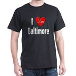 I Love Baltimore Maryland (Front) Black T-Shirt