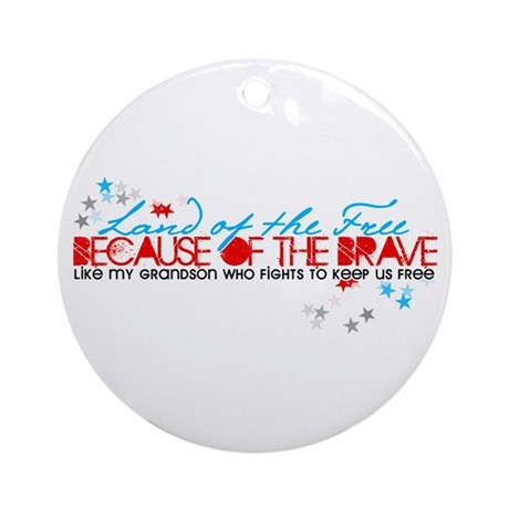Land of the Free: Grandson Ornament (Round)