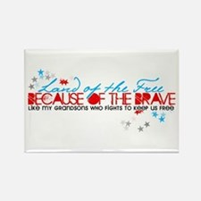 Land of the Free: Grandsons Rectangle Magnet