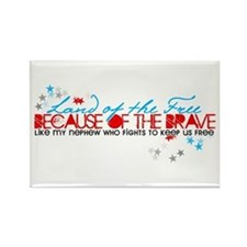 Land of the free: Nephew Rectangle Magnet