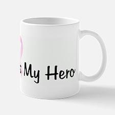 My Mom is My Hero pink ribbon Mug