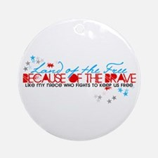 Land of the free: Niece Ornament (Round)