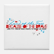 Land of the free: Niece Tile Coaster