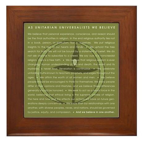 """""""As UUs, We Believe"""" Framed Tile"""