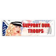 Support Troops Bumper Bumper Sticker