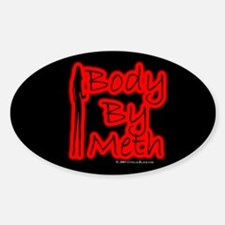 Body By Meth Oval Decal