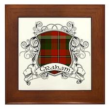 Graham Tartan Shield Framed Tile