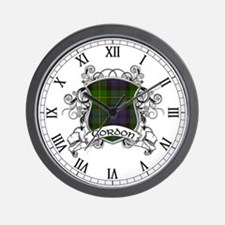 Gordon Tartan Shield Wall Clock