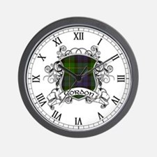 Gordon Tartan Shield Wall Clock