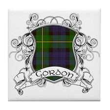 Gordon Tartan Shield Tile Coaster