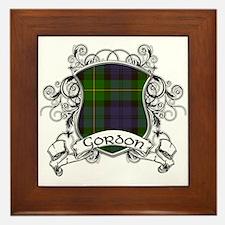 Gordon Tartan Shield Framed Tile