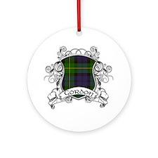 Gordon Tartan Shield Ornament (Round)