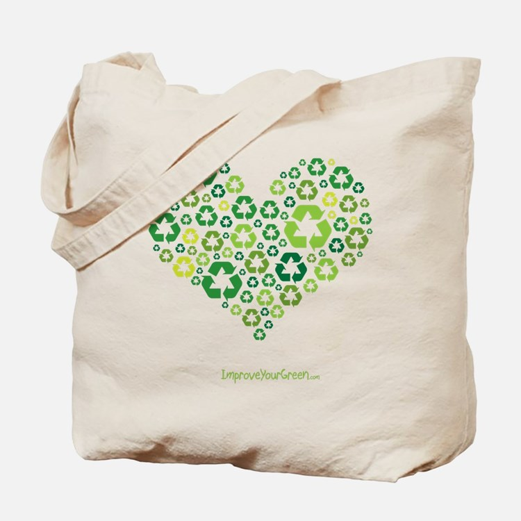 Heart Recycling Collage Tote