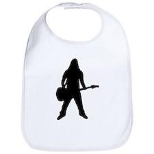 guitar player icon Bib