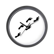 black footprints Wall Clock