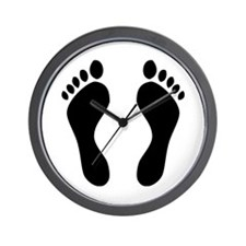 footprints barefoot Wall Clock