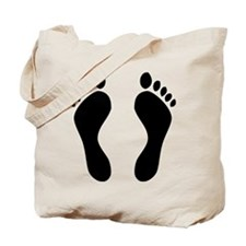 footprints barefoot Tote Bag