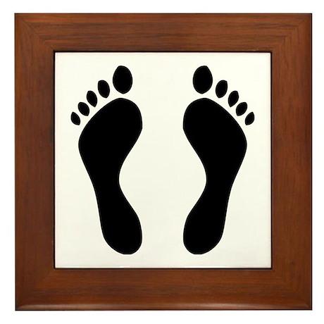 footprints barefoot Framed Tile